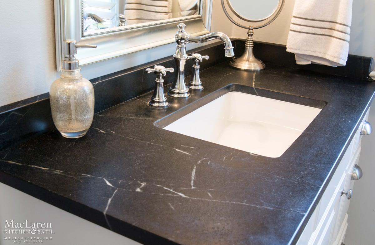 Classic Black Amp White Master Bathroom Newtown Square Pa