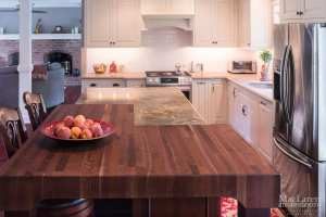 Natural walnut butcher block countertop wayne pa