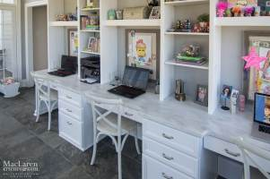 Dupont Corian Countertop in Arrowroot for Study Desk
