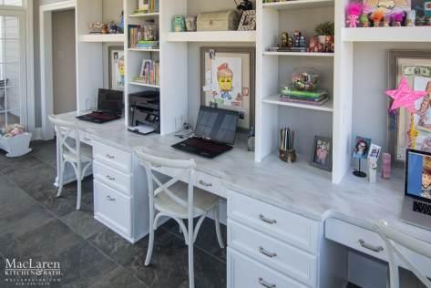 Dupont Corian Countertop in Arrowroot for Study Desk