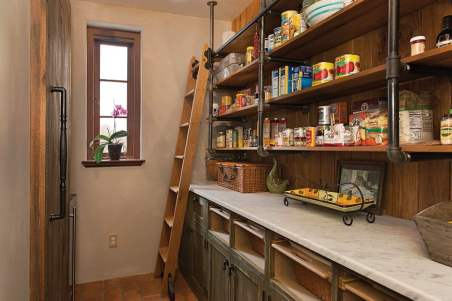 Honed Carrara Marble for the Pantry Countertop