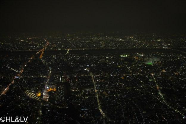 在Skytree之上俯瞰东京