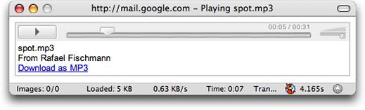 Gmail Audio