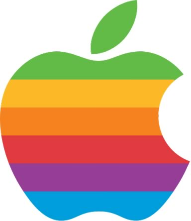 Símbolo da Apple multicolorido