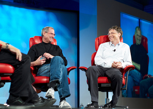 Bill Gates e Steve Jobs