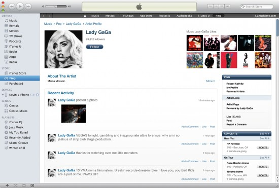 Ping no iTunes 10