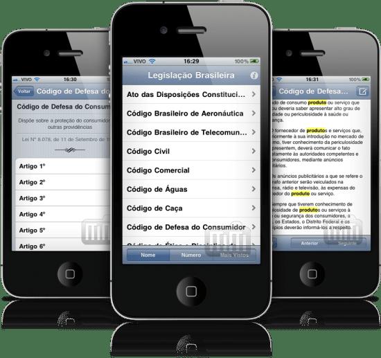 Vade Mecum de Direito em iPhones