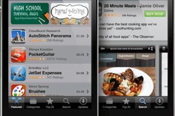 App Store em iPhones 4