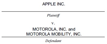 Apple processa Motorola