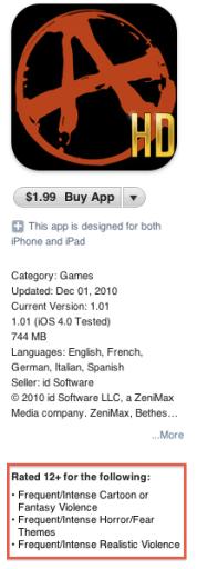 Classificação etária na App Store