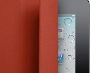 iPad preto Smart Cover vermelha