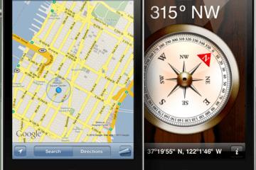 Mapas e Bússola em iPhones