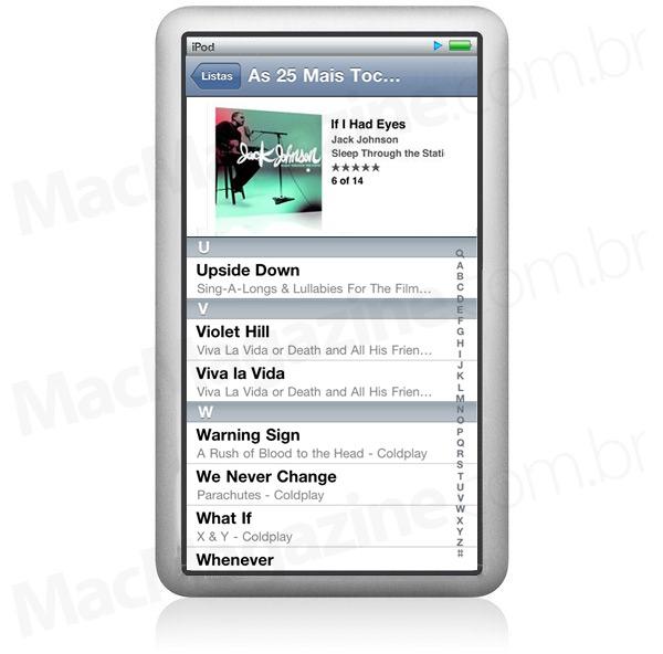 Mockup de iPod classic sem Click Wheel