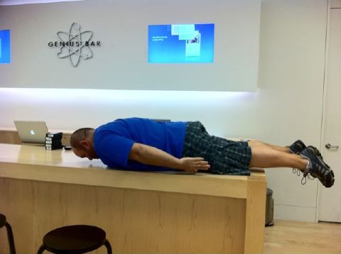 Planking em Apple Retail Store