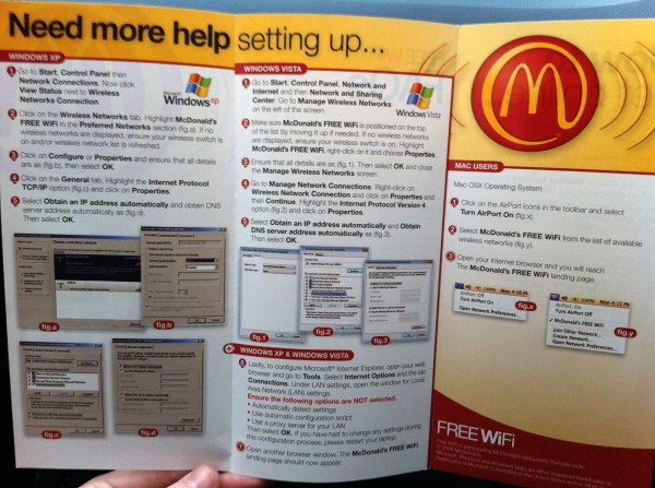 Panfleto do McDonald's - Mac vs. PC