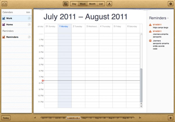 Calendar no iCloud.com