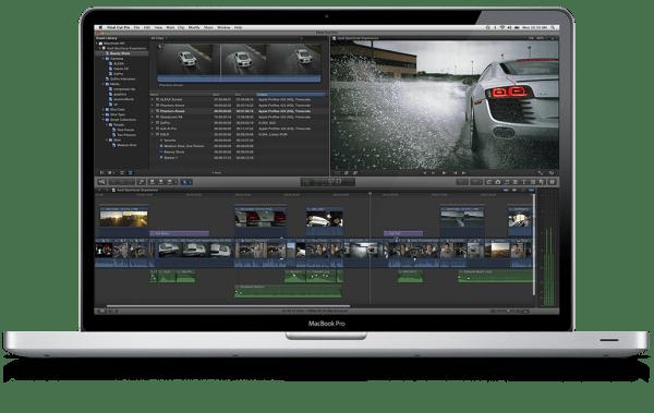 Apple Final Cut Pro X num MacBook Pro