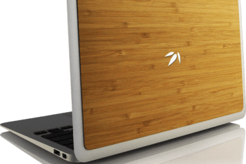 MacBook com Bamboo Back