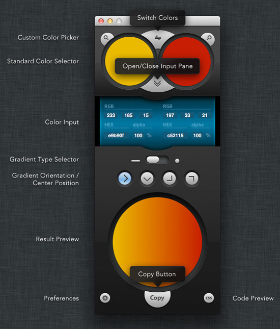 Interface do Gradient