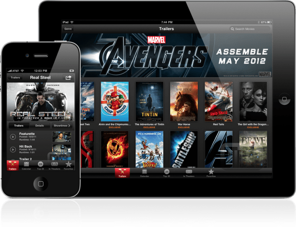 iTunes Movie Trailers - iPad e iPhone