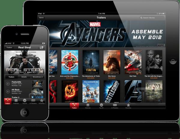 iTunes Movie Trailers - iPad e iPhone