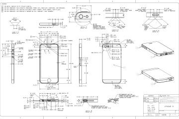 Desenho esquemático do iPhone 5