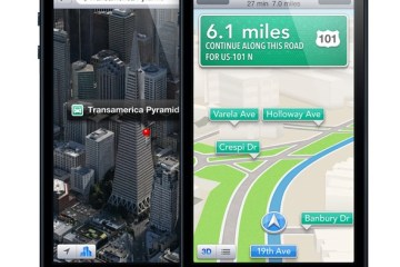 Mapas do iOS 6 no iPhone 5