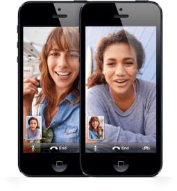 FaceTime em iPhone 5