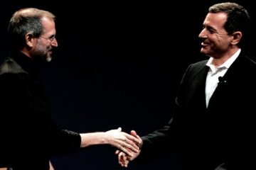 Steve Jobs e Bob Iger, da Disney