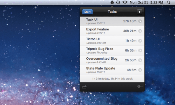 Tictoc - Mac OS X