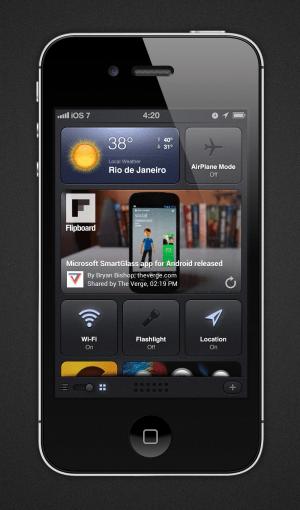 Conceito iOS 7 - Dashboard