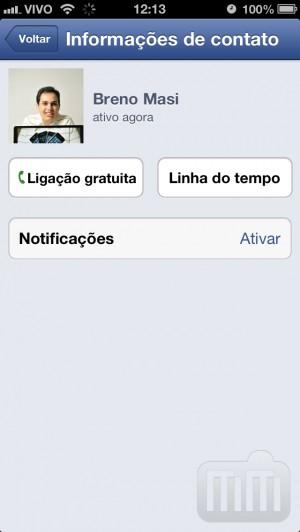 Ligação gratuita pelo Facebook