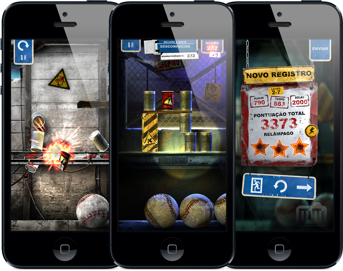 Screenshots do jogo Can Knockdown 3 para iOS