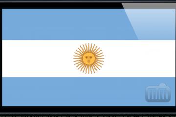 iPhone 5 com bandeira da Argentina