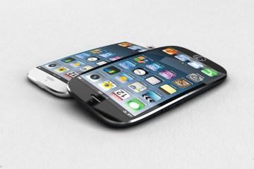 Mockup de iPhone com tela curva