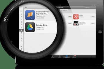 Lista alfabética em itens comprados no iPad