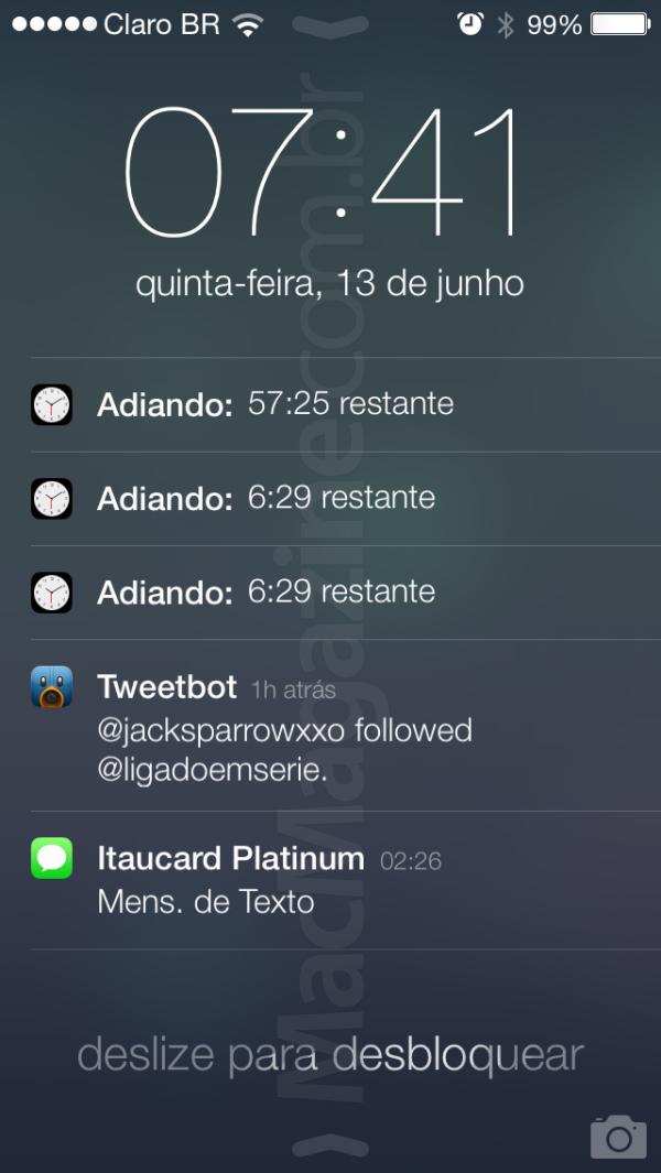Screenshot do iOS 7