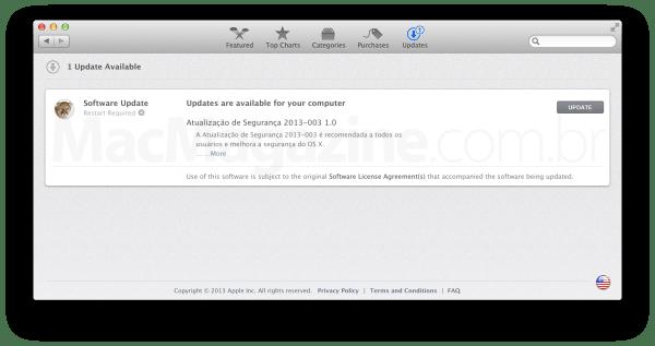 Atualização de segurança - OS X Mountain Lion