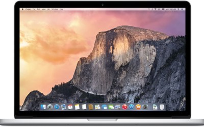 OS X Yosemite rodando no MacBook Pro