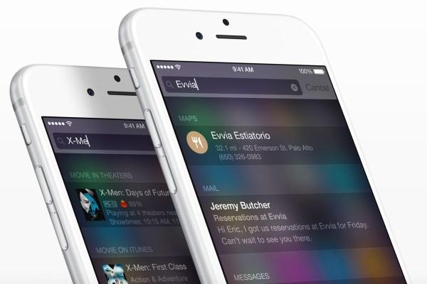 Spotlight do iOS 8