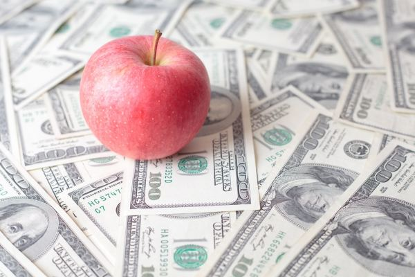 Apple e dinheiro