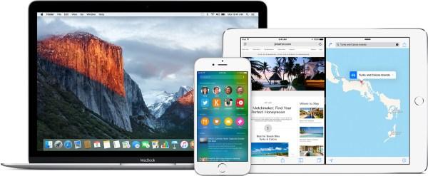 Versões beta do OS X El Capitan 10.11 e do iOS 9