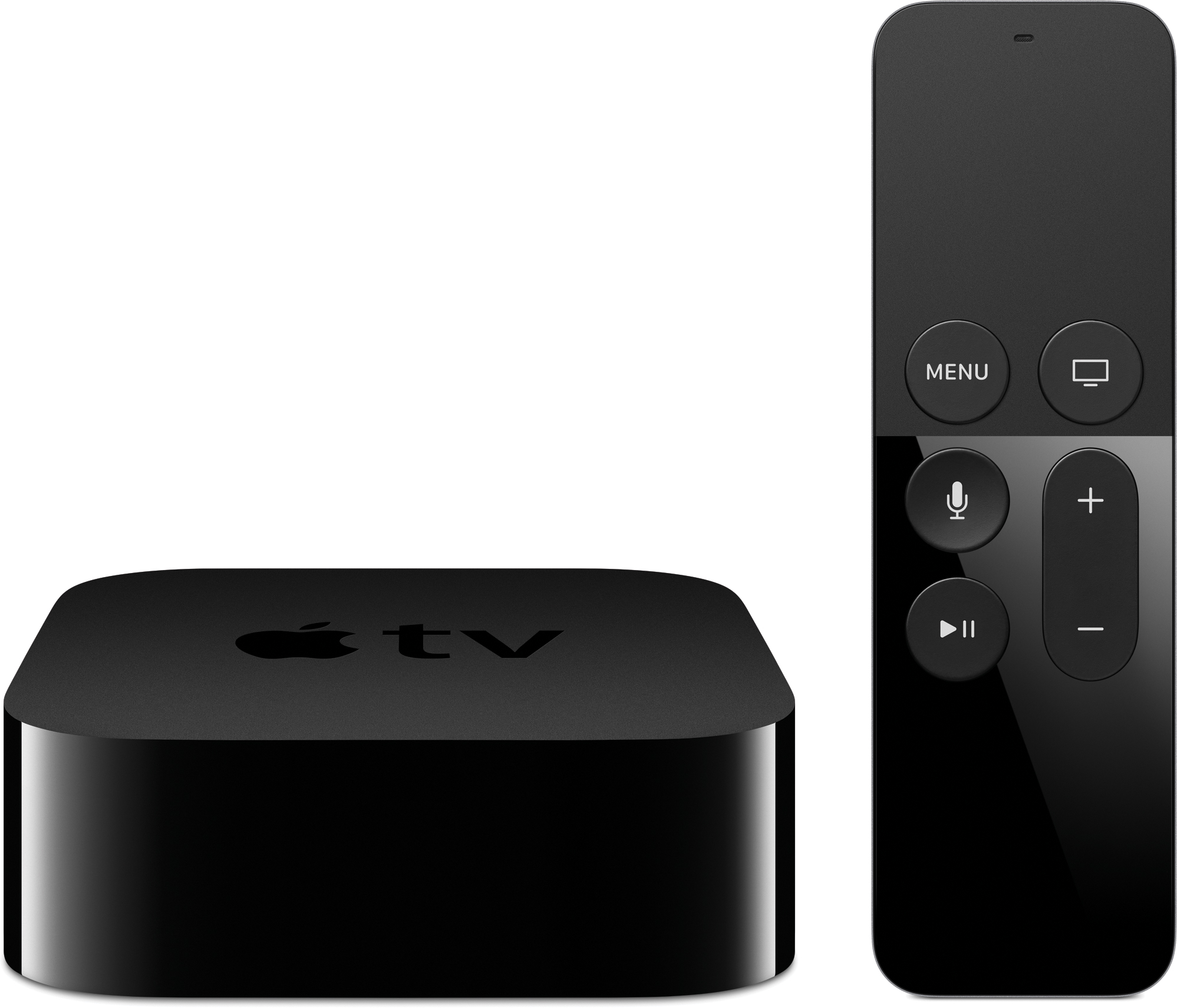 Nova Apple TV ao lado do controle remoto