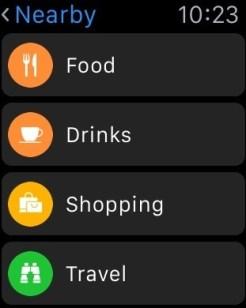 Novas opções no Mapas (Resumo) do Apple Watch