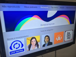 App Podcasts na Apple TV