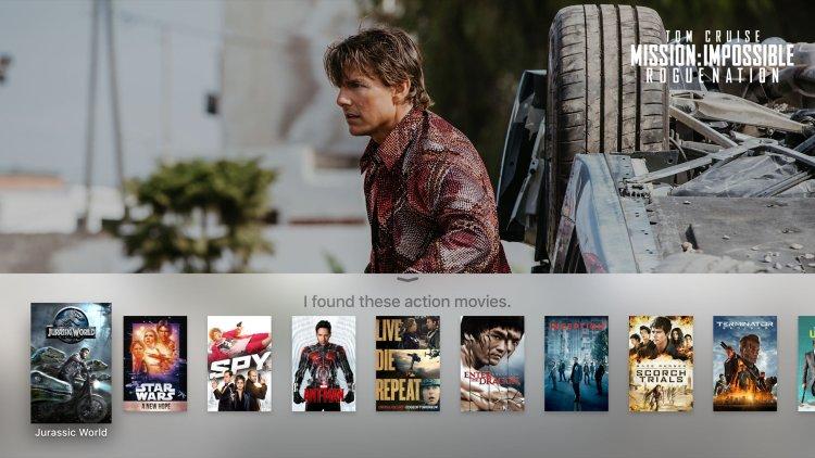 Busca (via Siri) na nova Apple TV