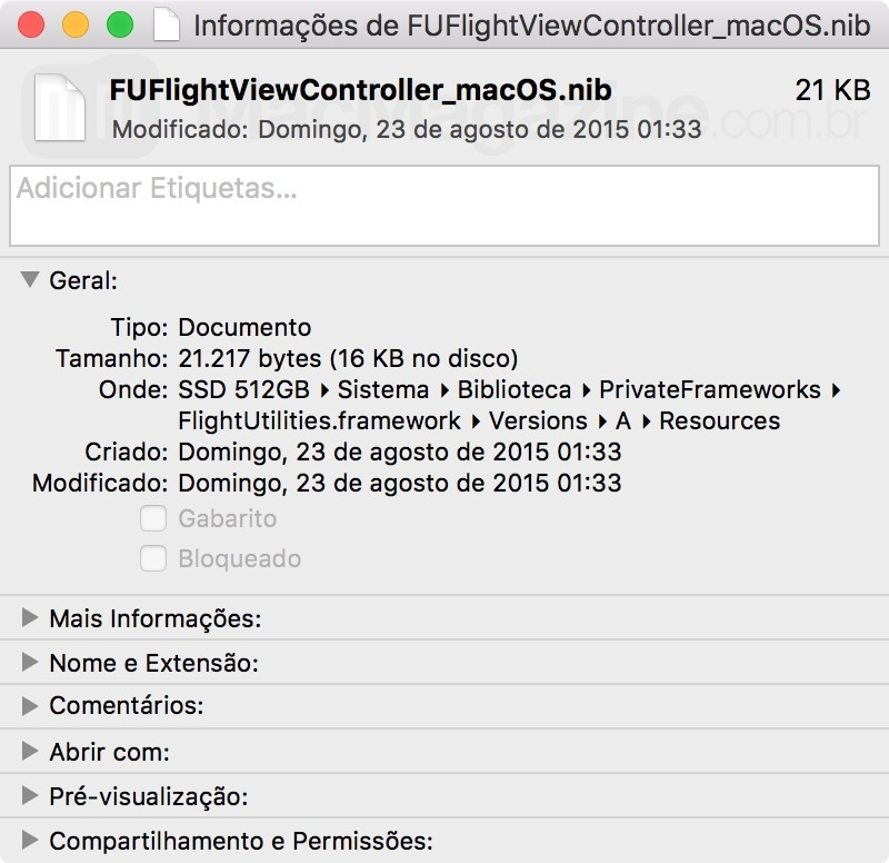"""Referência ao nome """"macOS"""" no OS X 10.11.4"""