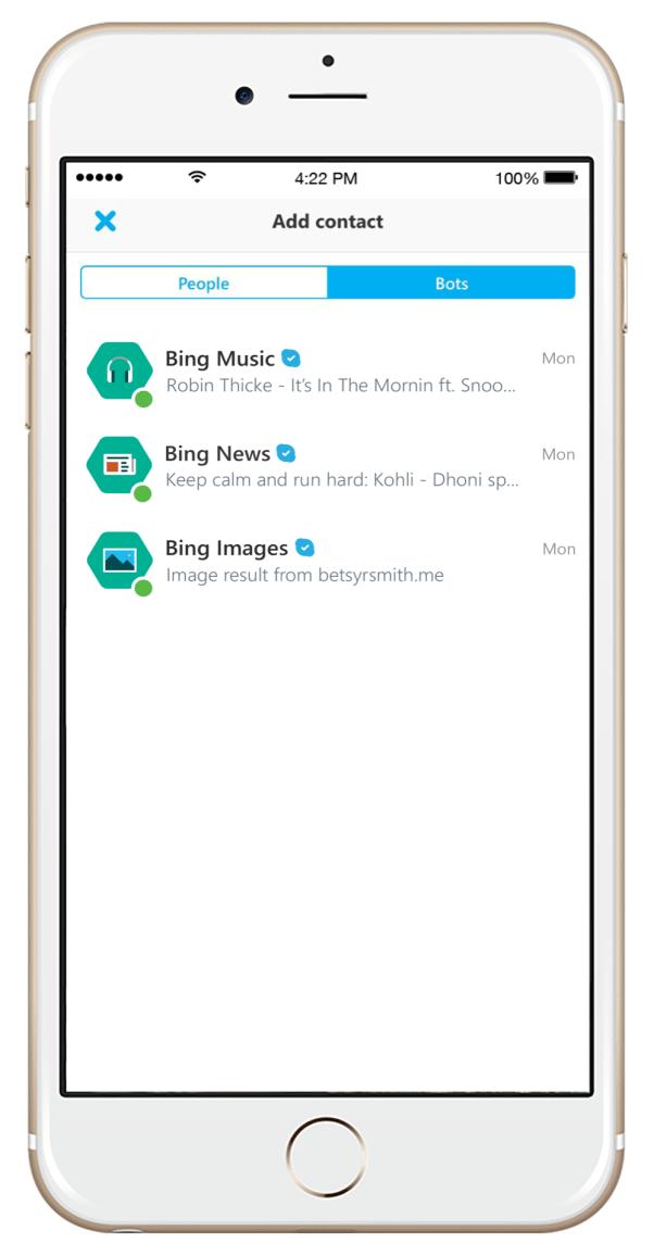 Skype Bots no iOS