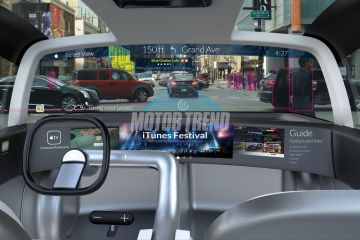 "Painel interno do ""Apple Car"""