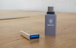 Adaptador de USB para USB-C, da Baseus